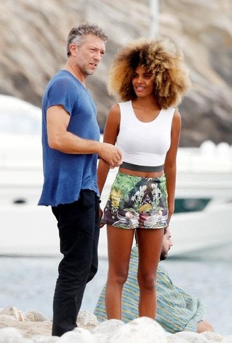 girlfriend vinent cassel vincent cassel spotted in ibiza with model tina kunakey