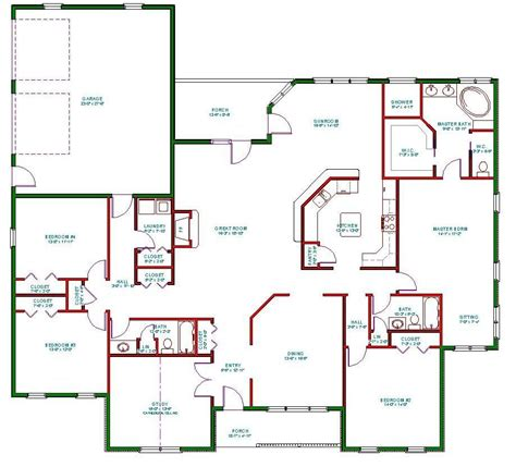 single level home designs single story open floor plans plan single level one
