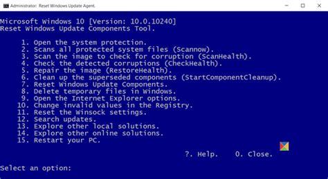 reset tool windows 10 reset windows update agent to default in windows 10