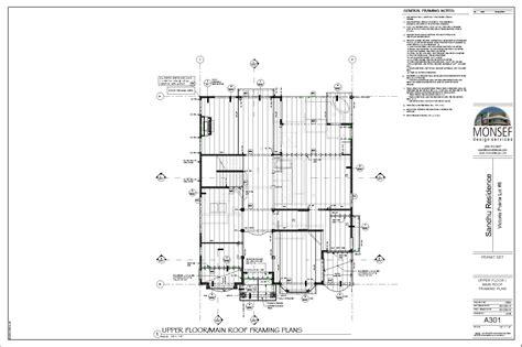 floor framing plan monsef donogh design group12004 lot 8 sheet a301 floor roof framing plan