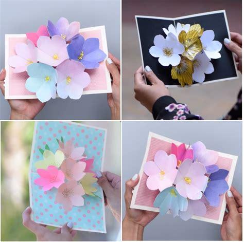 cara membuat kartu ucapan dari kertas jilid wihh ini nih cara mudah bikin pop up card bunga cantik
