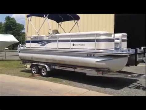 used boat trailers charlotte nc 2001 harris 220 sunliner w 90hp and trailer used pontoon