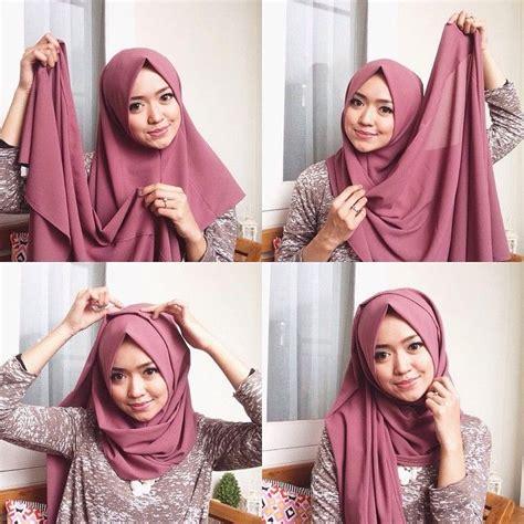 Jilbab Segi Empat Dan Cara Pemakaiannya tutorial pashmina segi empat terbaru 2017 masa kini