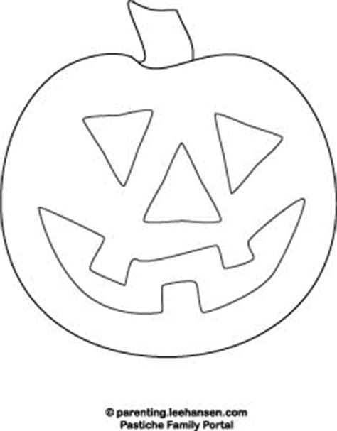 pumpkin face coloring page happy face halloween pinterest