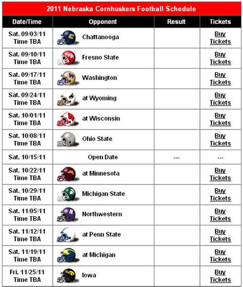 of nebraska lincoln schedule of nebraska football schedule 2015