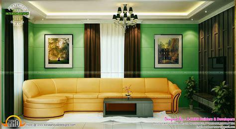 dining drawing living kitchen interior kerala home