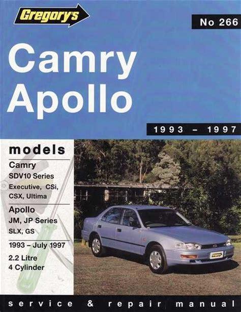 book repair manual 1993 toyota camry navigation system toyota camry sdv10 holden apollo jm jp 1993 1997 sagin workshop car manuals repair books