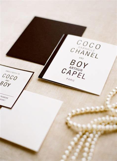 coco chanel wedding invitations best 25 chanel wedding ideas on chanel