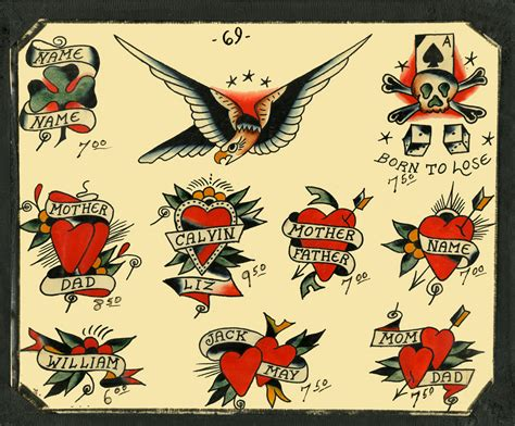 vintage heart tattoo designs speedboys 1963 vintage traditional flash
