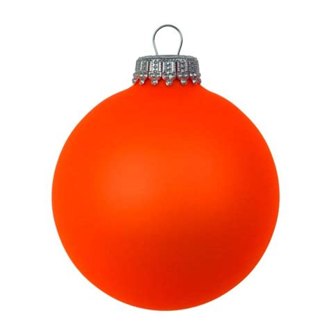 krebs neon orange glass baubles 6 x 67mm baubletimeuk