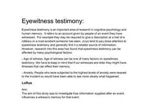 My Testimony Essay by Eyewitness Report Essay Buy Essay Cheap