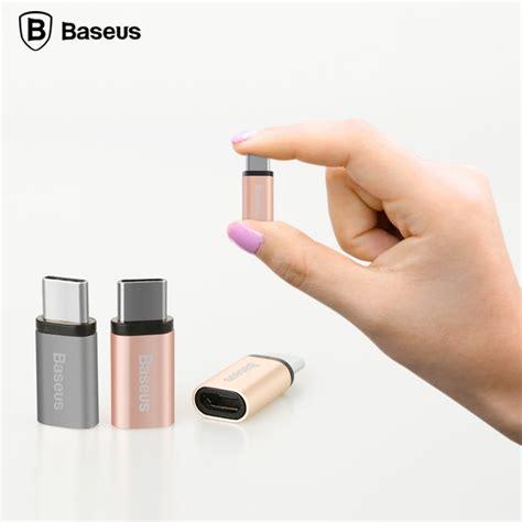 Baseus Usb Type C To Micro Usb Adapter For Nexus 6p 5x Etc baseus rui series micro usb to usb 3 1 type c adapter converter gray jakartanotebook