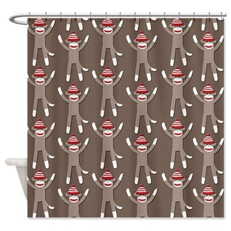 sock monkey curtains sock monkey shower curtain could be used for normal