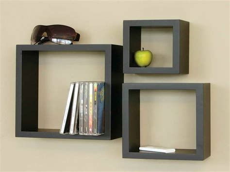 bloombety wall shelving ideas with black box wall
