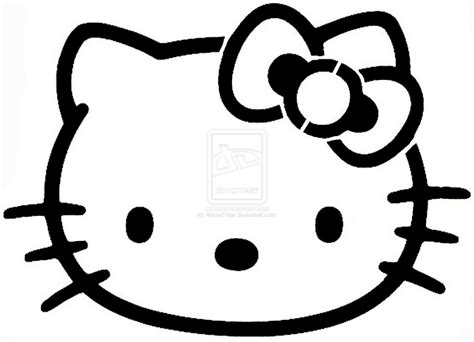 easy hello kitty stencil by alexisfobe on deviantart