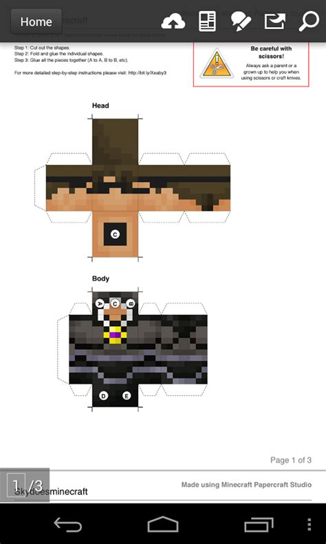 Papercraft Studio - if you want to design your own minecraft skins you