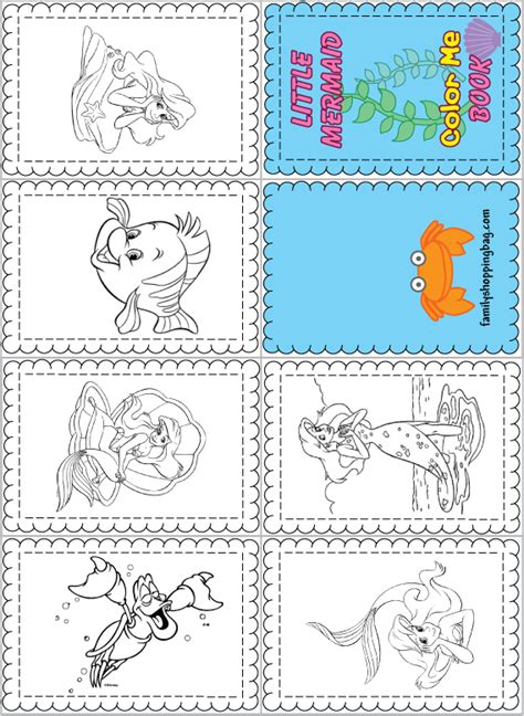 coloring book mini edition books color book little mermaid 414093 png