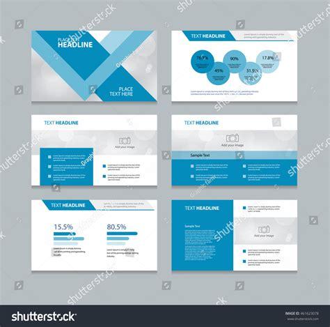 layout design presentation page presentation layout design template info stock vector