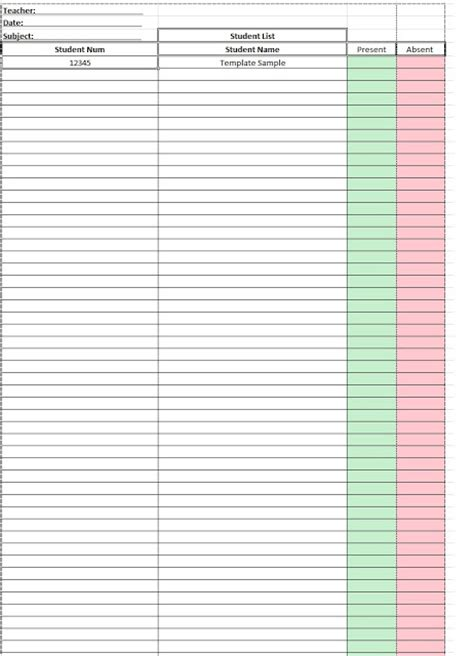 Search Results For Excel Student Attendance Sheet Template Calendar 2015 Student List Excel Template