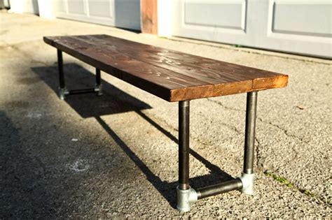 pipe bench diy shipping for shane galvanized steel pipe galvanized