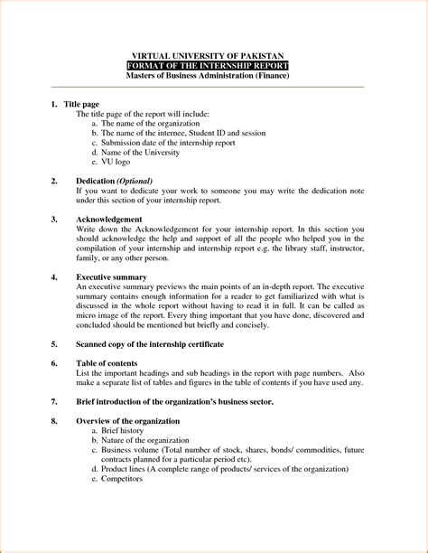 Report Business Letter business report exles