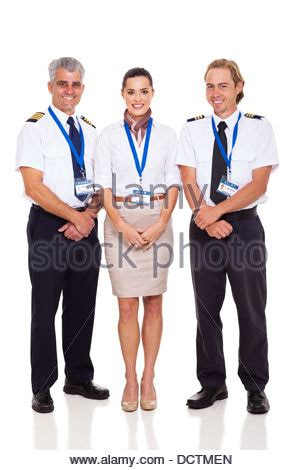 Flight Attendant Background Check Portrait Of Flight Attendant On Jet Stock Photo Royalty Free Image