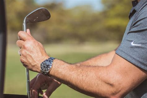 Rubber Web Watches You While You Work by Can You Wear A While Golfing Crown Caliber