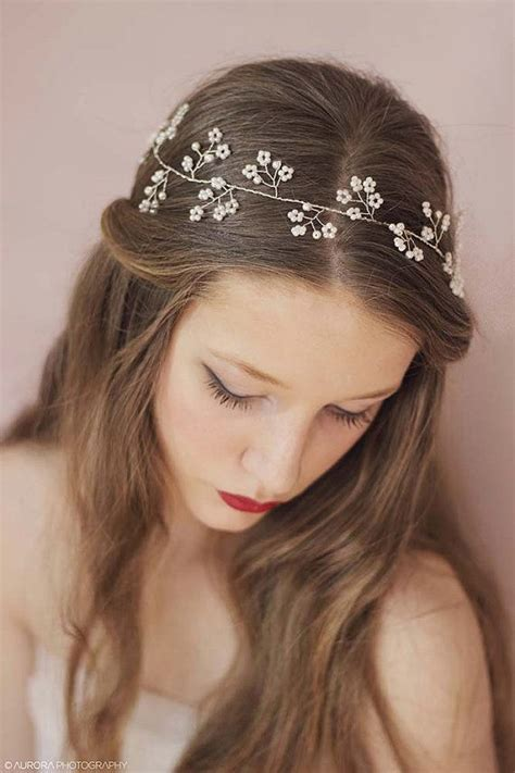 hair attached headbands uk 25 best ideas about headband wedding hair on pinterest