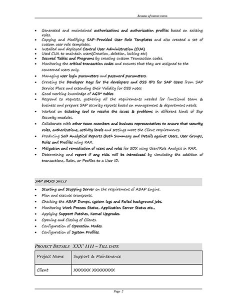 sap security resume format sap grc security sle resume 3 10 years experience