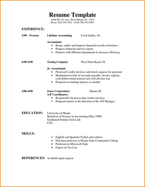 formal template 6 formal cv format sle financial statement form