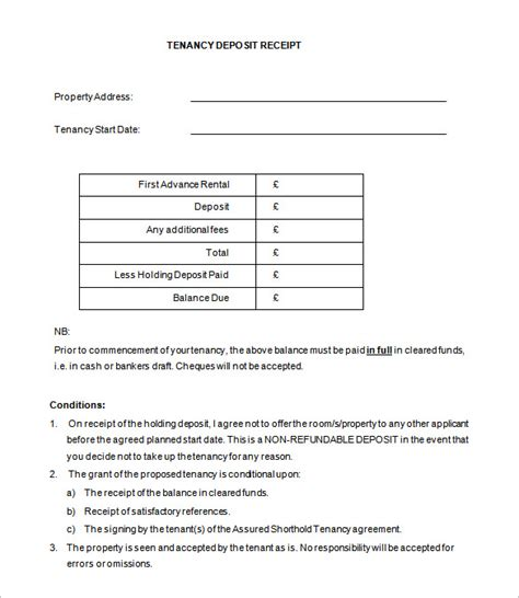 receipt for deposit template deposit receipt template 19 free word excel pdf