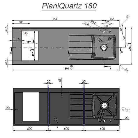 Evier Avec Plan De Travail by Plan De Travail Monobloc Planiquartz Avec 233 Vier 224 Gauche