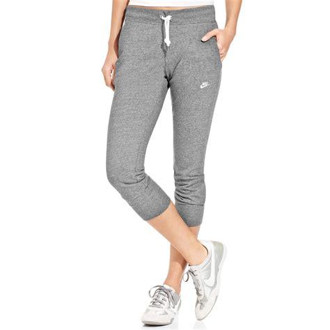 light grey nike sweatpants nike womens capri sweatpants simple purple nike womens