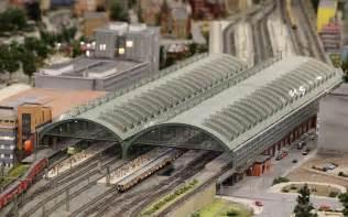 Trains pass through a miniature version of ostbahnhof train station