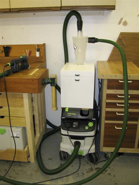 cabinet shop dust collection systems best cyclone for your festool vac workshop ideas