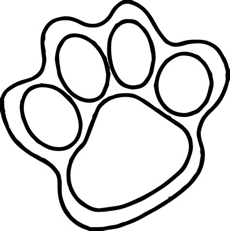 coloring pages of paw prints tiger paw print coloring page murderthestout
