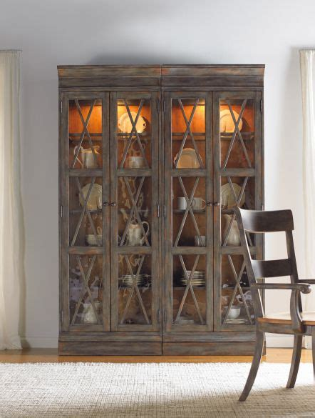 curio display cabinets dining room furniture hooker furniture dining room two door bunching curio in