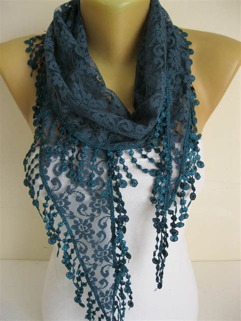 lace scarf with trim scarves gift ideas for s