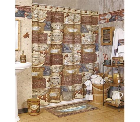 country shower curtains and accessories country baths shower curtain and bath accessories