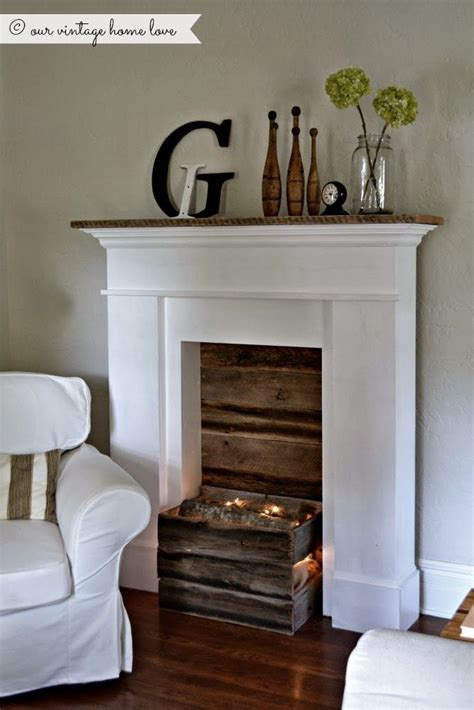 fake fireplace logs with lights our vintage home love faux fireplace what a great idea