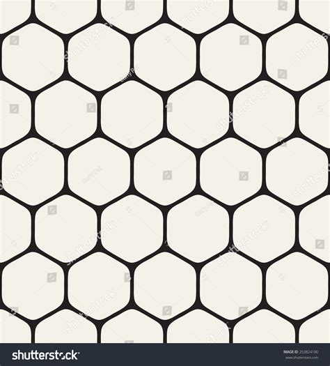 hexagonal pattern grid vector seamless pattern modern stylish texture stock