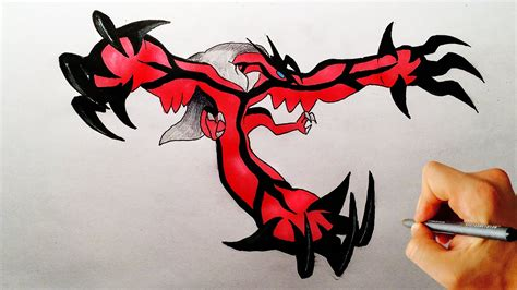 learn how to draw yveltal from pokemon pokemon step by how to draw yveltal from pokemon xy drawing lesson youtube