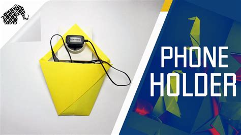 How To Make A Paper Phone - origami how to make an origami phone charger holder