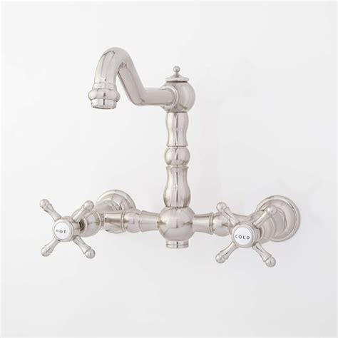 wall mount kitchen faucets vintage wall mounted vessel sink faucet with cross handles