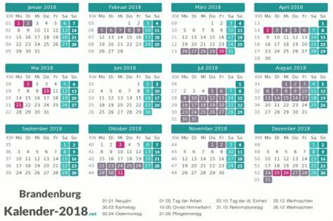 Kalender 2018 Mit Feiertagen Brandenburg Ferien Brandenburg 2018 Ferienkalender 220 Bersicht