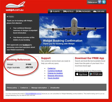 Online check in   Webjet