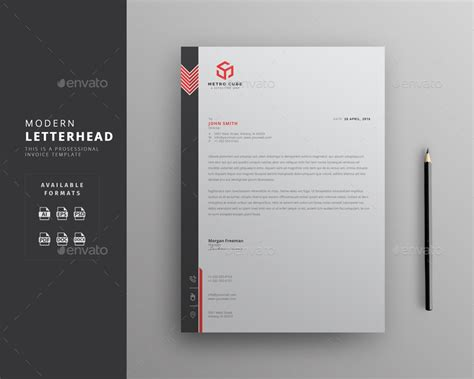 modern business letterhead letterhead by themedevisers graphicriver