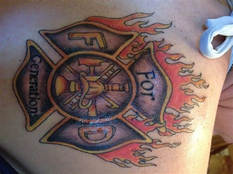 firefighter cross tattoos firefighter tattoos designs ideas and meaning tattoos