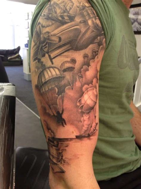 tattoo army of two normandy s battle half sleeve tattoos of honor