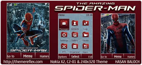 themes nokia x2 manchester united the amazing spider man theme for nokia x2 c2 01 240 215 320